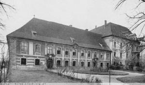 1938 rok - północna fasada prałatury dawnego klasztoru
