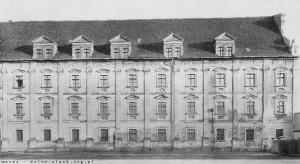 1938 rok - zachodnia fasada dawnego klasztoru